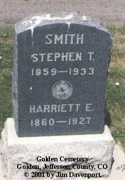 SMITH, STEPHEN T. - Jefferson County, Colorado | STEPHEN T. SMITH - Colorado Gravestone Photos