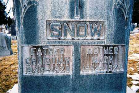 SNOW, CHRISTIAN - Jefferson County, Colorado | CHRISTIAN SNOW - Colorado Gravestone Photos