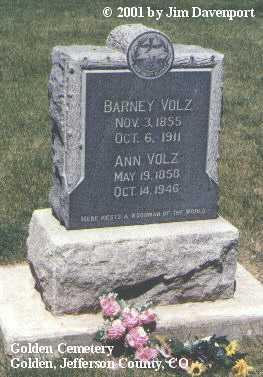 VOLZ, ANN - Jefferson County, Colorado | ANN VOLZ - Colorado Gravestone Photos