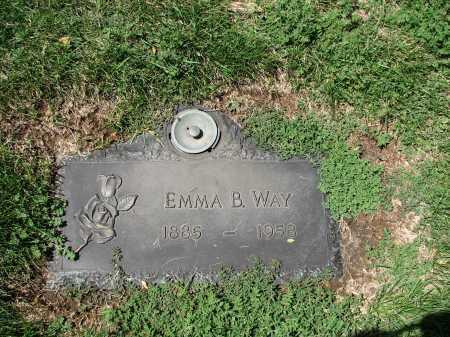 WAY, EMMA B - Jefferson County, Colorado | EMMA B WAY - Colorado Gravestone Photos