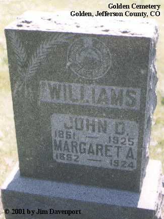 WILLIAMS, JOHN D. - Jefferson County, Colorado | JOHN D. WILLIAMS - Colorado Gravestone Photos