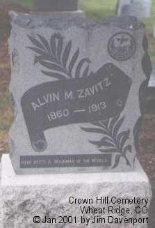 ZAVITZ, ALVIN M. - Jefferson County, Colorado | ALVIN M. ZAVITZ - Colorado Gravestone Photos
