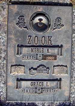 ZOOK, MERLE - Jefferson County, Colorado | MERLE ZOOK - Colorado Gravestone Photos