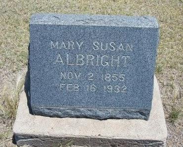 HUFF ALBRIGHT, MARY SUSAN - Kiowa County, Colorado | MARY SUSAN HUFF ALBRIGHT - Colorado Gravestone Photos