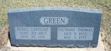 GREEN, AGNES CAROLINE - Kiowa County, Colorado | AGNES CAROLINE GREEN - Colorado Gravestone Photos