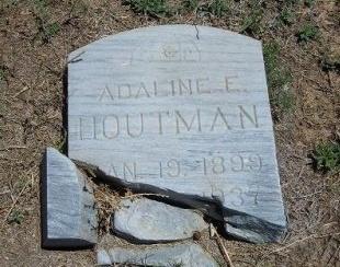 """HOUTMAN, ADALINE F """"ADDIE"""" - Kiowa County, Colorado   ADALINE F """"ADDIE"""" HOUTMAN - Colorado Gravestone Photos"""
