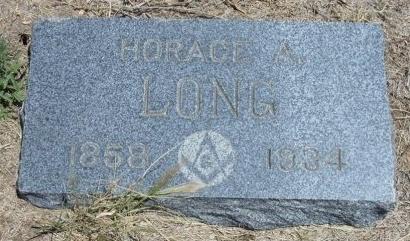 LONG, HORACE A - Kiowa County, Colorado | HORACE A LONG - Colorado Gravestone Photos