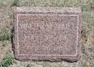 MAILE, WALTER W - Kiowa County, Colorado   WALTER W MAILE - Colorado Gravestone Photos