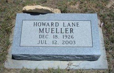 MUELLER, HOWARD LANE - Kiowa County, Colorado   HOWARD LANE MUELLER - Colorado Gravestone Photos