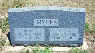 CHAPMAN MYERS, ANNIE LAURIE - Kiowa County, Colorado | ANNIE LAURIE CHAPMAN MYERS - Colorado Gravestone Photos
