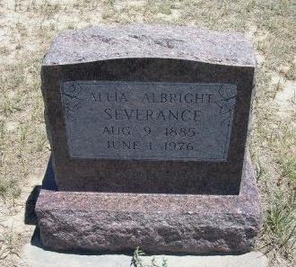 ALBRIGHT SEVERANCE, ALLIA  - Kiowa County, Colorado | ALLIA  ALBRIGHT SEVERANCE - Colorado Gravestone Photos