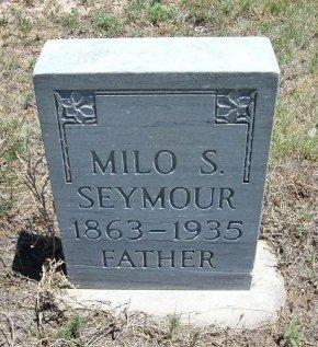 SEYMOUR, MILO S - Kiowa County, Colorado | MILO S SEYMOUR - Colorado Gravestone Photos