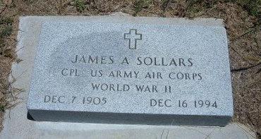 SOLLARS (VETERAN WWII), JAMES A - Kiowa County, Colorado | JAMES A SOLLARS (VETERAN WWII) - Colorado Gravestone Photos