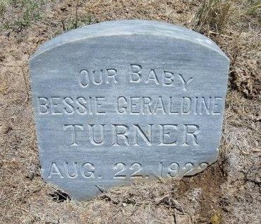 TURNER, BESSIE GERALDINE - Kiowa County, Colorado | BESSIE GERALDINE TURNER - Colorado Gravestone Photos