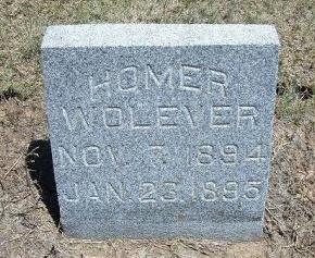 WOLEVER, HOMER - Kiowa County, Colorado | HOMER WOLEVER - Colorado Gravestone Photos