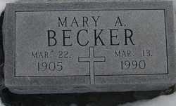 BECKER, MARY A. - Kit Carson County, Colorado | MARY A. BECKER - Colorado Gravestone Photos