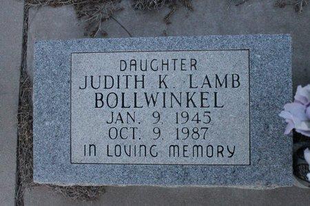 BOLLWINKEL, JUDITH K - Kit Carson County, Colorado | JUDITH K BOLLWINKEL - Colorado Gravestone Photos