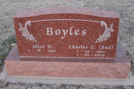 BOYLES, ALICE D - Kit Carson County, Colorado | ALICE D BOYLES - Colorado Gravestone Photos