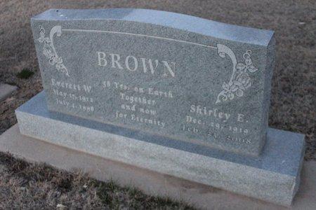 BROWN, SHIRLEY E - Kit Carson County, Colorado | SHIRLEY E BROWN - Colorado Gravestone Photos