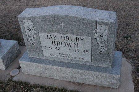BROWN, JAY DRURY - Kit Carson County, Colorado   JAY DRURY BROWN - Colorado Gravestone Photos