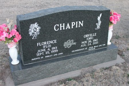 CHAPIN, FLORENCE (FLO) - Kit Carson County, Colorado | FLORENCE (FLO) CHAPIN - Colorado Gravestone Photos