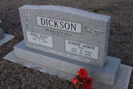 DICKSON, DONNA MARIE - Kit Carson County, Colorado | DONNA MARIE DICKSON - Colorado Gravestone Photos