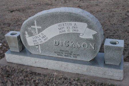 DICKSON, VERLA D - Kit Carson County, Colorado | VERLA D DICKSON - Colorado Gravestone Photos