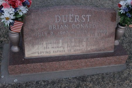 DUERST, BRIAN DONALD - Kit Carson County, Colorado | BRIAN DONALD DUERST - Colorado Gravestone Photos