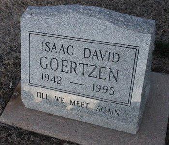 GOERTZEN, ISAAC DAVID - Kit Carson County, Colorado   ISAAC DAVID GOERTZEN - Colorado Gravestone Photos