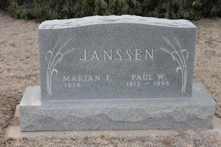 JANSSEN, PAUL W - Kit Carson County, Colorado | PAUL W JANSSEN - Colorado Gravestone Photos