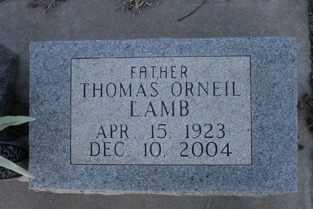 LAMB, THOMAS ORNELL - Kit Carson County, Colorado | THOMAS ORNELL LAMB - Colorado Gravestone Photos