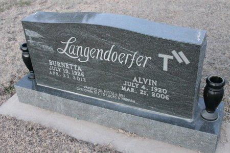 LANGENDOERFER, ALVIN - Kit Carson County, Colorado | ALVIN LANGENDOERFER - Colorado Gravestone Photos