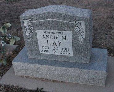 LAY, ANGIE M - Kit Carson County, Colorado | ANGIE M LAY - Colorado Gravestone Photos