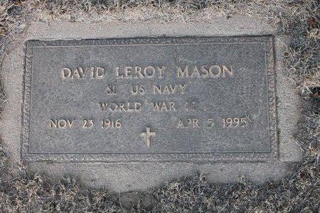 MASON, DAVID LEROY - Kit Carson County, Colorado | DAVID LEROY MASON - Colorado Gravestone Photos