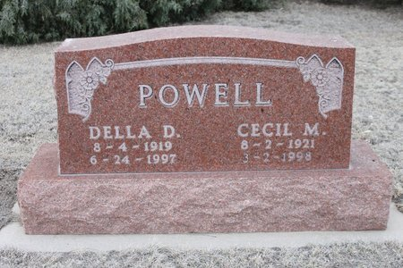 POWELL, DELLA D - Kit Carson County, Colorado | DELLA D POWELL - Colorado Gravestone Photos