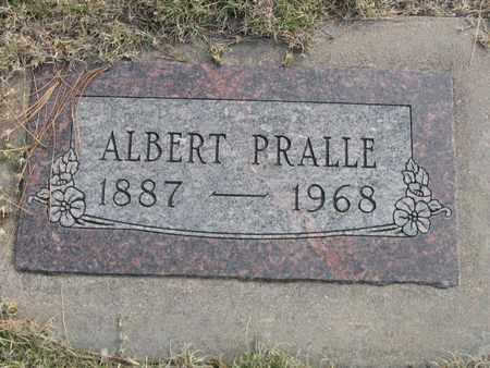 PRALLE, ALBERT - Kit Carson County, Colorado | ALBERT PRALLE - Colorado Gravestone Photos