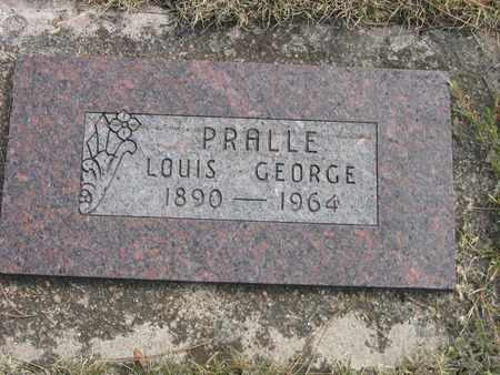 PRALLE, LOUIS - Kit Carson County, Colorado | LOUIS PRALLE - Colorado Gravestone Photos