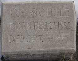 SCHULTZ, CORNELIUS B. - Kit Carson County, Colorado | CORNELIUS B. SCHULTZ - Colorado Gravestone Photos