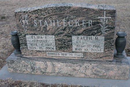 STAHLECKER, ELMA E - Kit Carson County, Colorado   ELMA E STAHLECKER - Colorado Gravestone Photos