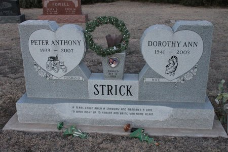 STRICK, PETER ANTHONY - Kit Carson County, Colorado | PETER ANTHONY STRICK - Colorado Gravestone Photos