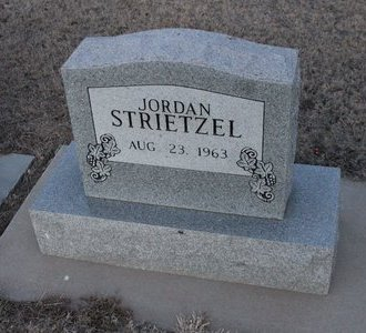 STRIETZEL, JORDAN - Kit Carson County, Colorado | JORDAN STRIETZEL - Colorado Gravestone Photos