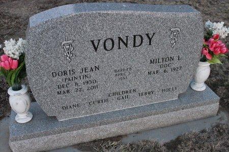 PAINTIN VONDY, DORIS JEAN - Kit Carson County, Colorado   DORIS JEAN PAINTIN VONDY - Colorado Gravestone Photos