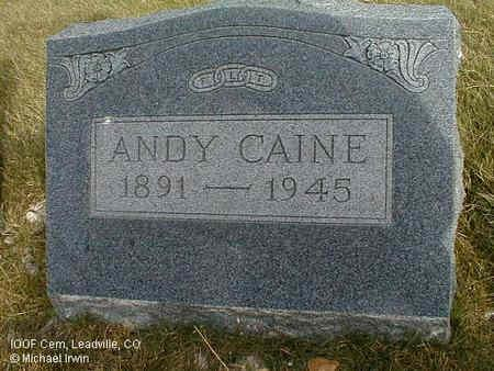 CAINE, ANDY - Lake County, Colorado   ANDY CAINE - Colorado Gravestone Photos