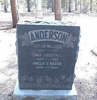 ANDERSON, EMMA AUGUSTA L. - Lake County, Colorado | EMMA AUGUSTA L. ANDERSON - Colorado Gravestone Photos