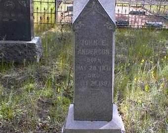 ANDERSON, JOHN E. - Lake County, Colorado | JOHN E. ANDERSON - Colorado Gravestone Photos