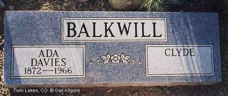 BALKWILL, CLYDE - Lake County, Colorado | CLYDE BALKWILL - Colorado Gravestone Photos
