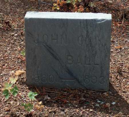 BALL, JOHN O. - Lake County, Colorado | JOHN O. BALL - Colorado Gravestone Photos