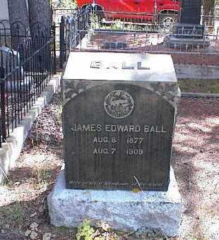 BALL, JAMES EDWARD - Lake County, Colorado | JAMES EDWARD BALL - Colorado Gravestone Photos
