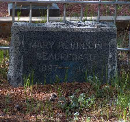 ROBINSON BEAUREGARD, MARY - Lake County, Colorado   MARY ROBINSON BEAUREGARD - Colorado Gravestone Photos