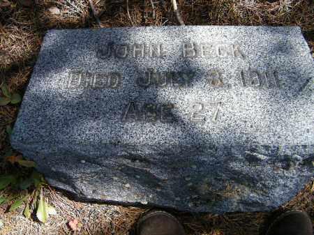 BECK, JOHN - Lake County, Colorado   JOHN BECK - Colorado Gravestone Photos